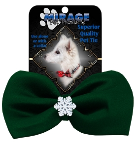 Snowflake Widget Pet Bowtie Green